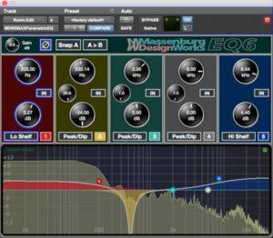EQ6 5 Band Shading & Spectrum
