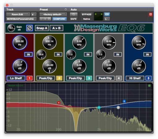 MDW EQ6 5 Band Spectrum