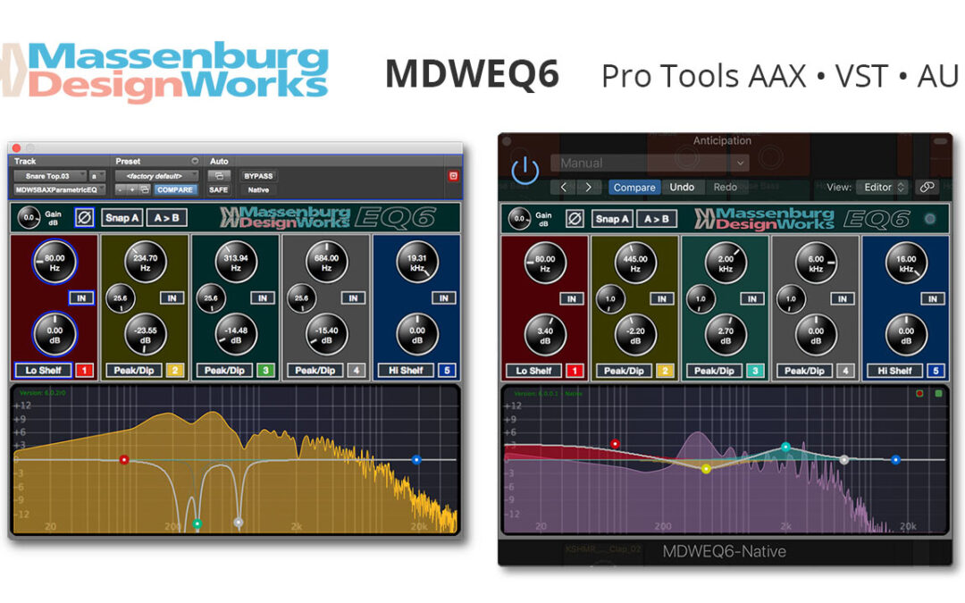 Massenburg MDWEQ6 Plugin Now Available for VST & AU