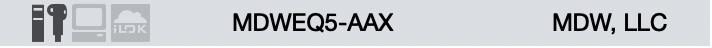 MDWEQ5-AAX iLok License Text